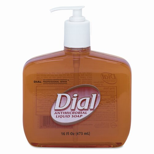 The Dial Corporation Liquid Dial Liquid Gold Antimicrobial Soap, 16 Oz Pump Bottle