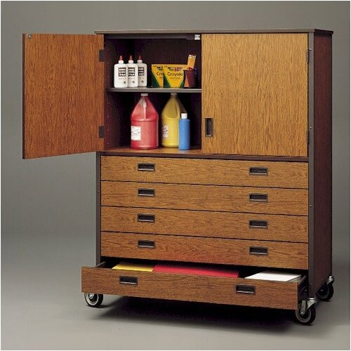 Fleetwood Storage Cabinet with Five Drawers and Shelf