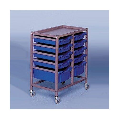 "Fleetwood Double Column Mobile 33.5"" Storage Cart"