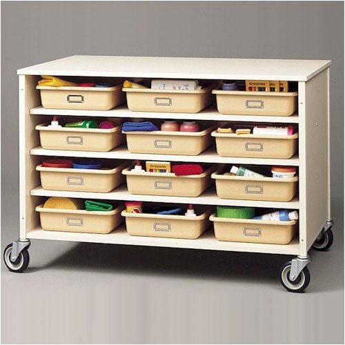 Fleetwood 24 Compartment Double Sided Storage Cart
