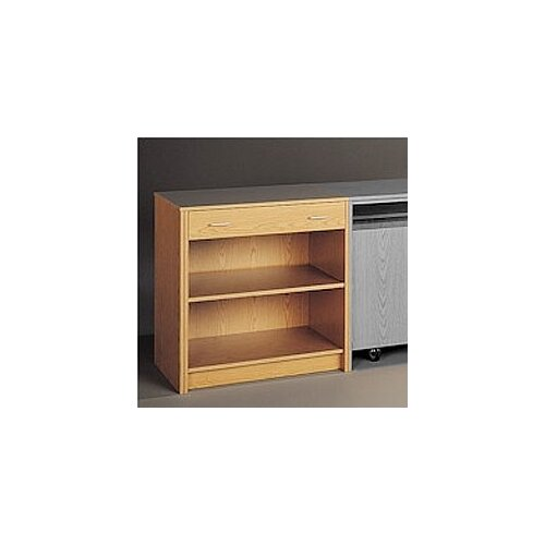 Fleetwood Library Modular Front Desk System Open Storage Unit Bookcase with Drawer