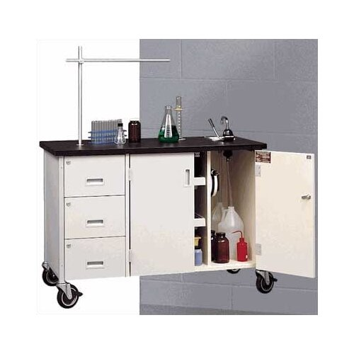 "Fleetwood 48"" W Mobile Science Lab Station with Sink and Storage"