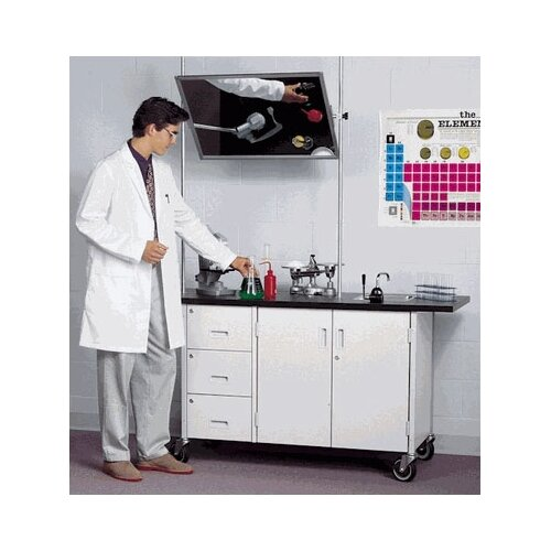 Fleetwood Mobile Science Demonstrator Table with Overhead Mirror and Drawers