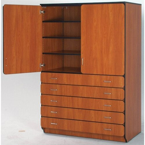 "Fleetwood Illusions 84"" Shelf and Drawer Cabinet with Four Adjustable Shelves"