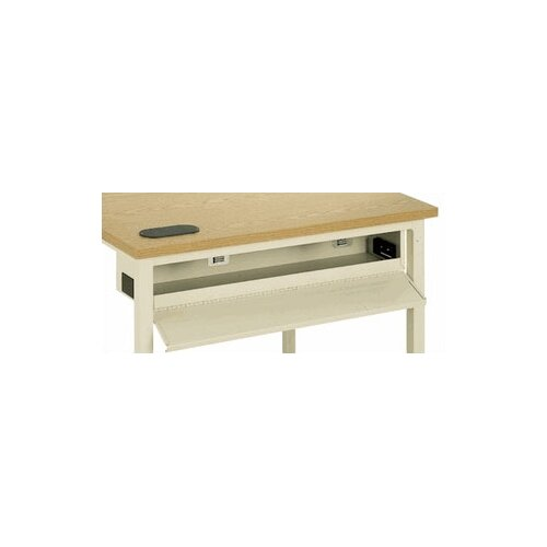 Fleetwood C-Leg Computer Table with Wire Management and Optional Adjustable Height