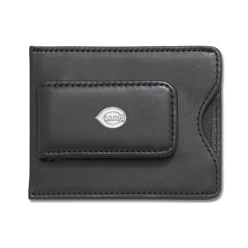 LogoArt® MLB Logo Black Leather Money Clip / Credit Card / ID Holder