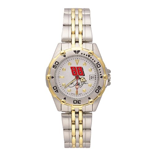 LogoArt® NASCAR No.88 Dale Jr. Ladies All Star Bracelet Watch with Team Logo Dial