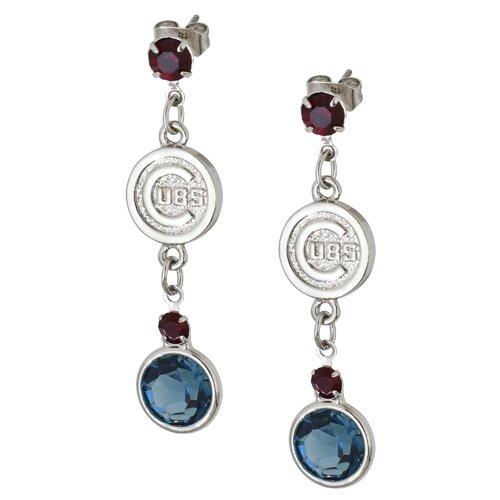 LogoArt® MLB Logo Crystal Earrings