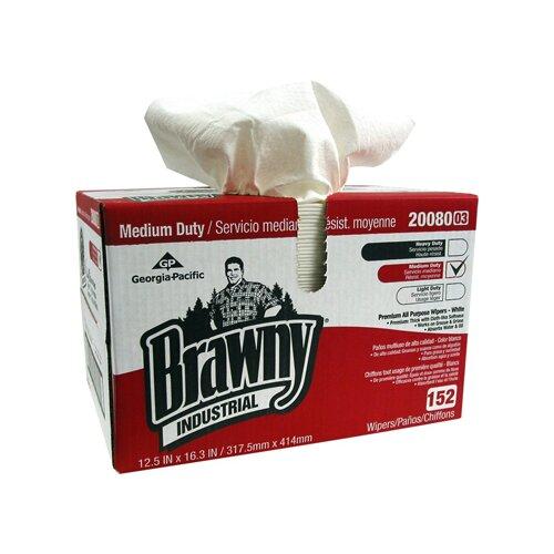 Brawny Quarter Case All-Purpose Double Recrepe Wipers