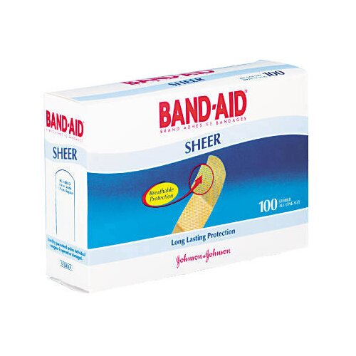BAND-AID 3/4 x 3 Bandages Flexible Fabric Adhesive