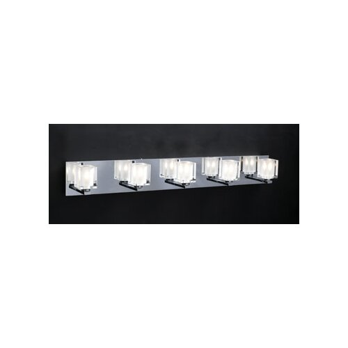 PLC Lighting Glacier 5 Light Vanity Light