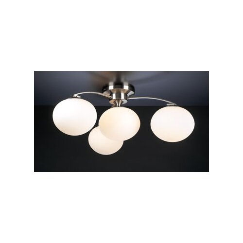PLC Lighting Aosta 4 Light Semi Flush Mount