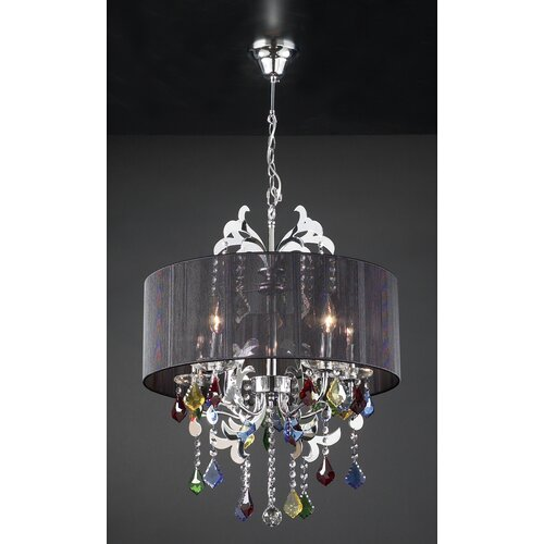 PLC Lighting Torcello 5 Light Drum Pendant