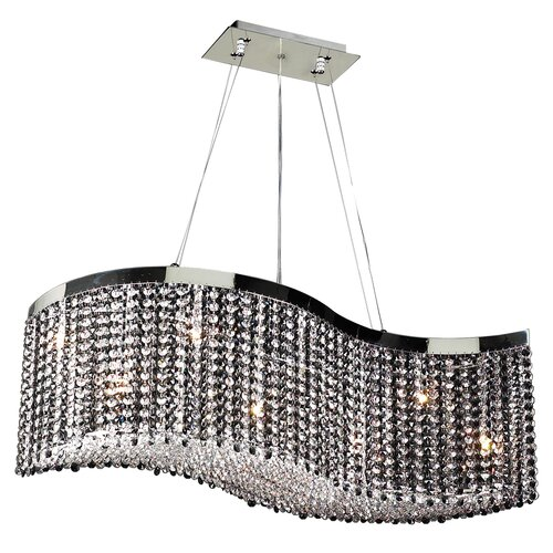 PLC Lighting Clavius-II 8 Light Crystal Chandelier