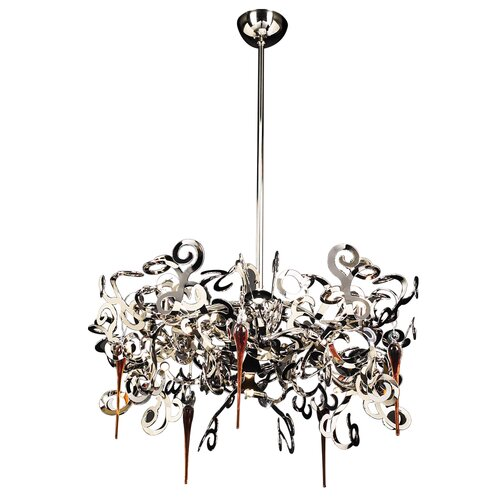 PLC Lighting Exos 10 Light Chandelier