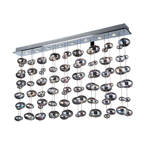PLC Lighting Bubble 8 Light Flush Mount