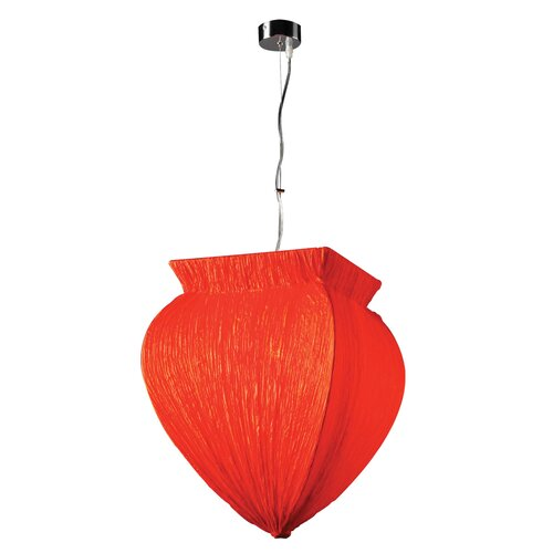 PLC Lighting Bombay 1 Light Pendant