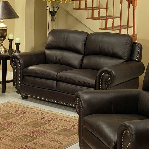 Ridgecrest Top Grain Leather Loveseat