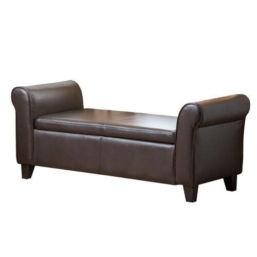 ... Living Easton Leather Bedroom Storage Bench & Reviews  Wayfair