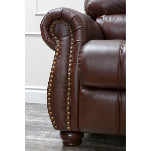 Abbyson Living Houston Italian Leather Sofa, Loveseat and Armchair Set