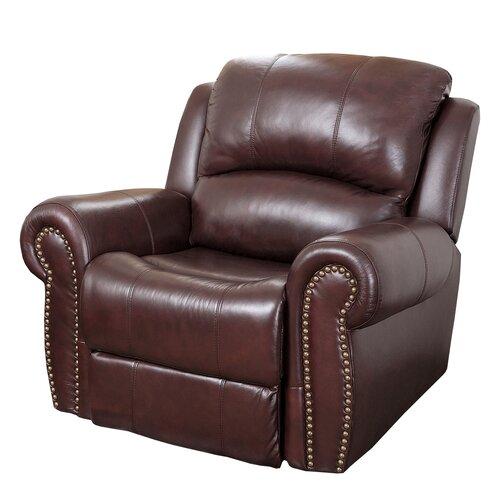 Burgundy leather recliner wayfair for Burgundy leather chaise