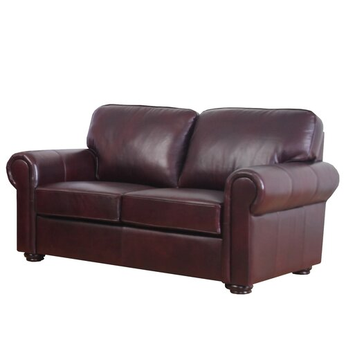 Meghan Leather Loveseat
