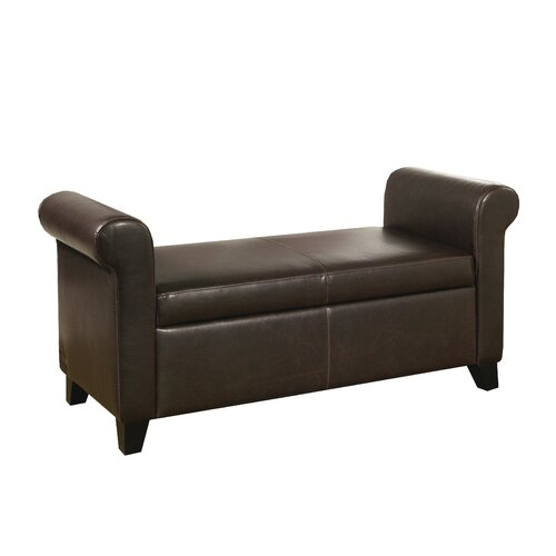 Stratford Leather Storage Bench