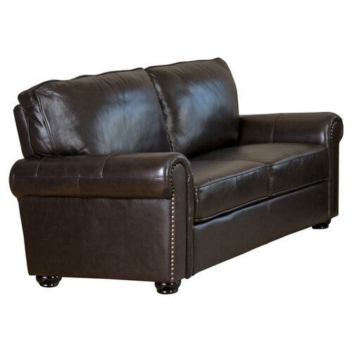 Abbyson Living Bliss Leather Sofa and Loveseat Set