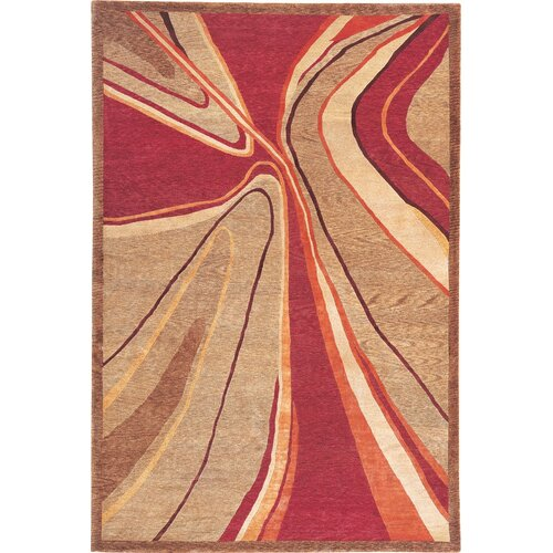 Abbyson Living Silhouette Himalayan Sheep Red Indoor/Outdoor Area Rug