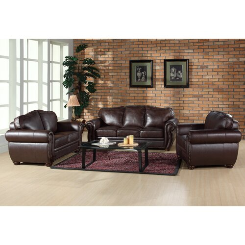 Abbyson Living Palazzo Leather Sofa