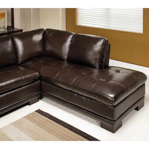 Abbyson Living Tivoli Premium Leather Sectional