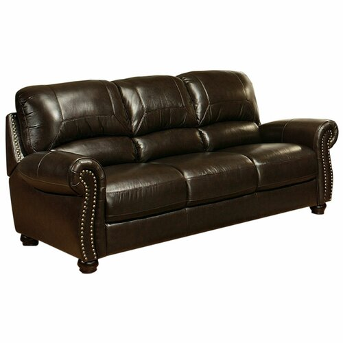 Abbyson Living Broadway Leather Sofa