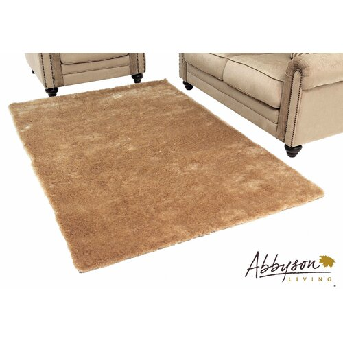 Abbyson Living Taupe Shag Indoor/Outdoor Rug