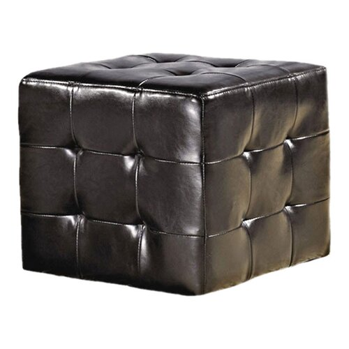 Bentley Leather Cube Ottoman
