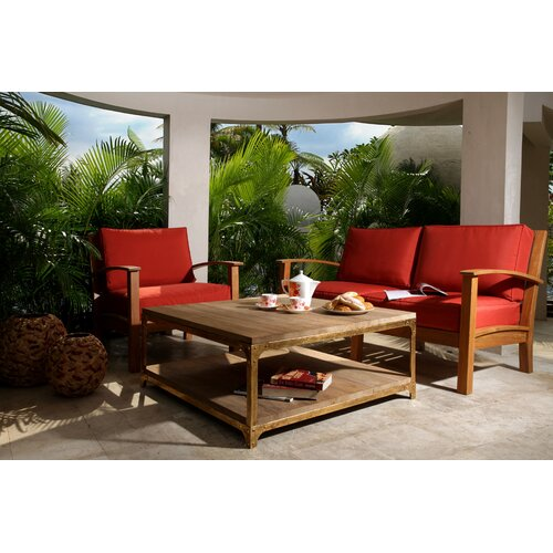 Abbyson Living Meru 3 Piece Deep Seating Group with Cushion