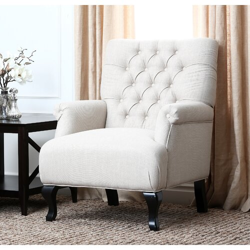 Abbyson Living Roma Linen Chair