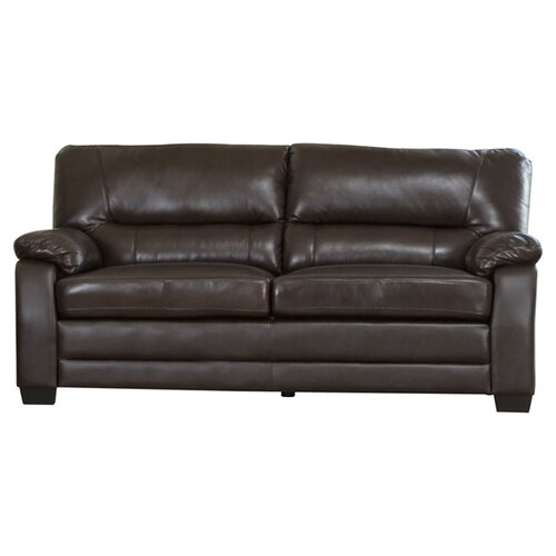 Broadway Brookfield Italian Leather Loveseat