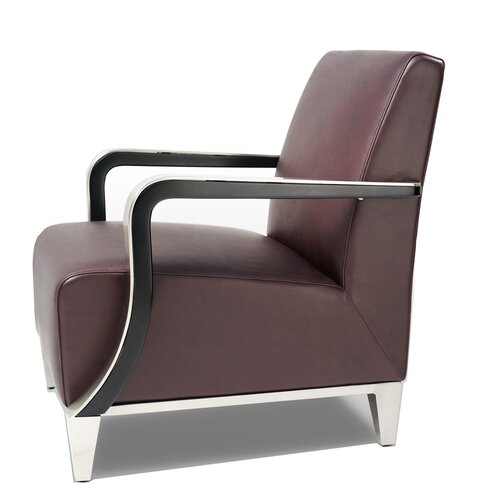 Bellini Modern Living Marbella Leather Arm Chair