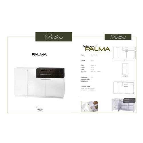 Bellini Modern Living Palma Sideboard