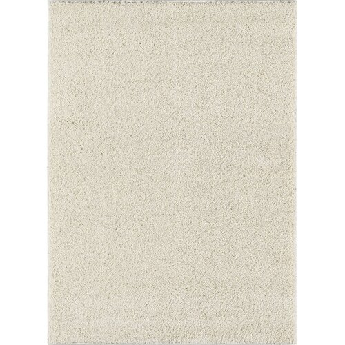 City Shag Solid White Area Rug