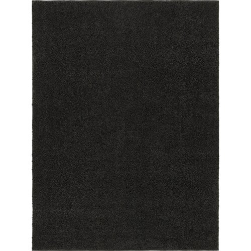City Shag Solid Black Area Rug