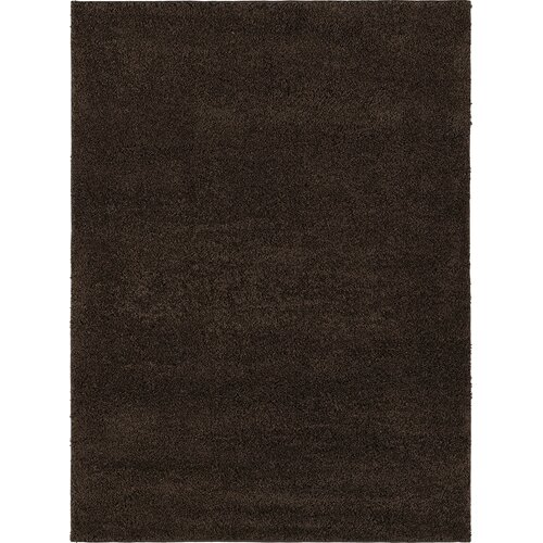 City Shag Solid Brown Area Rug