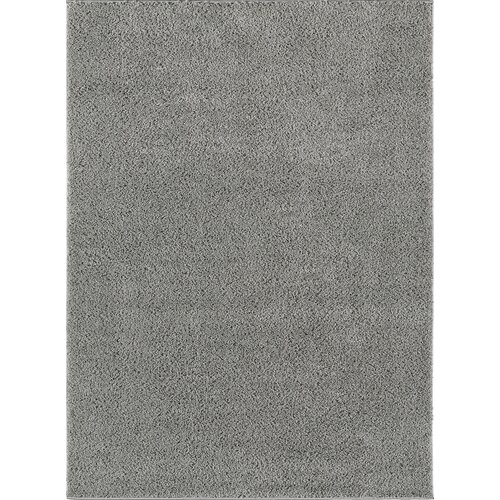 City Shag Solid Silver Area Rug