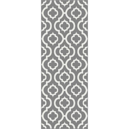 Metro Gray Moroccan Tile Rug