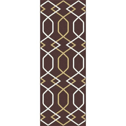 Metro Brown Geometric Rug