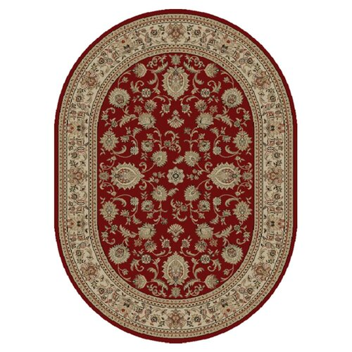 Tayse Rugs Sensation Red Border Rug