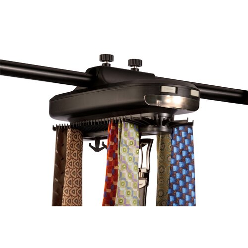 Smartek Rotating Tie Rack With Battery Powered Light