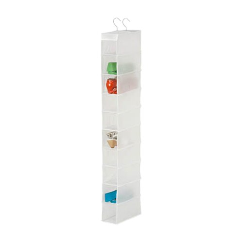 10 Shelf Shoe Organizer in White