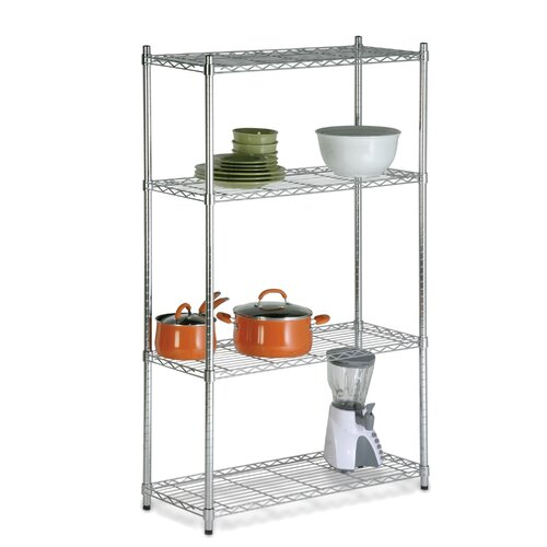 "Honey Can Do Storage 60"" H 4 Shelf Shelving Unit"