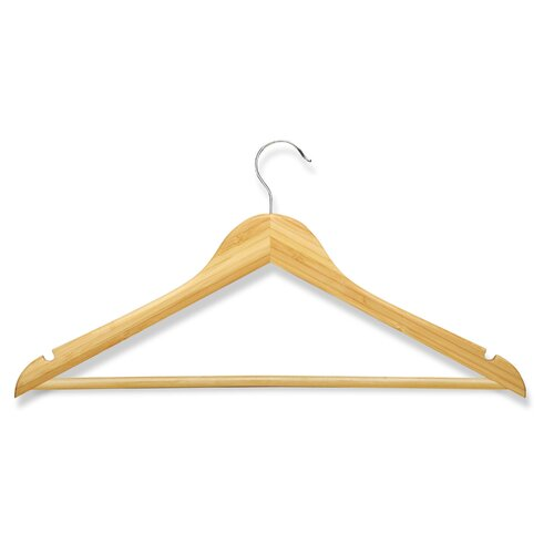 Eight Pack Suit Hangers in Bamboo